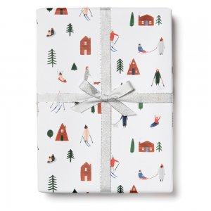 スキーとお家の包装紙/ラッピングペーパー