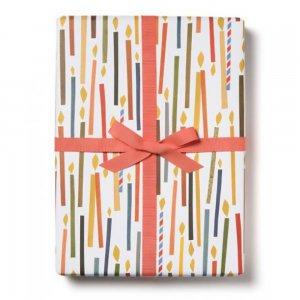 カラフルキャンドルの包装紙/ラッピングペーパー