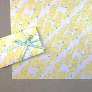【大判オーダー】ミモザ柄包装紙