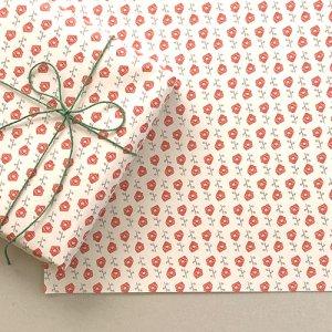 【大判オーダー】ミニバラのイラスト柄包装紙/500枚