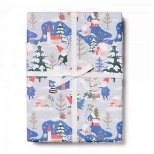 クリスマスのこびと柄包装紙/ラッピングペーパー