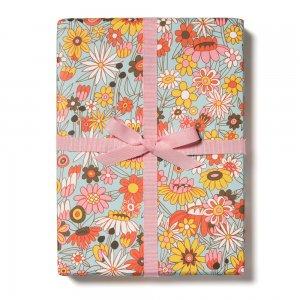 レトロな花柄の包装紙/ラッピングペーパー