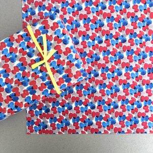 【大判オーダー】chou柄RED&BLUE柄包装紙/500枚
