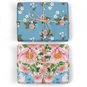 ストロベリー/クラシックガーデンダブルサイド包装紙/ラッピングペーパー