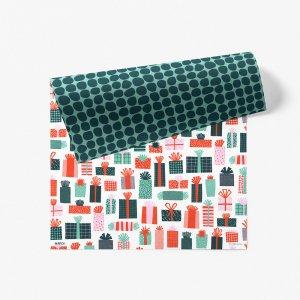 プレゼントボックスダブルサイド包装紙/ラッピングペーパー