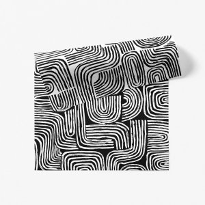 ブラックラインのダブルサイド包装紙
