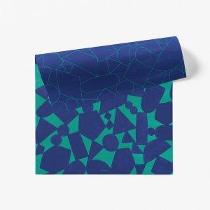 図形バランス柄ダブルサイド包装紙