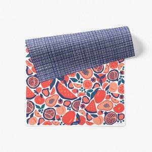 ピクニックフルーツ柄ダブルサイド包装紙