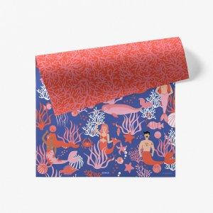 人魚の海柄ダブルサイド包装紙