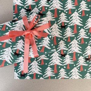 【大判オーダー】猫の森ペーパー柄包装紙/500枚