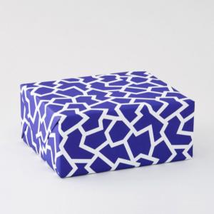 クラッシュ/ブルー柄包装紙