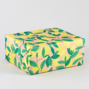 レモンの木柄包装紙