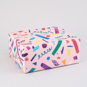 ペーパーストロー柄包装紙/ラッピングペーパー