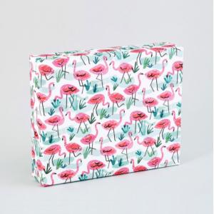 ピンクフラミンゴ柄包装紙/ラッピングペーパー