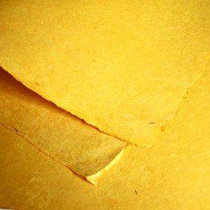 ネパール手漉き紙 無地(プレーン)ペーパー イエロー/包装紙/ラッピングペーパー