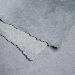 ネパール手漉き紙 無地(プレーン)ペーパー グレー/包装紙/ラッピングペーパー
