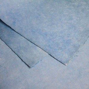 ネパール手漉き紙 無地(プレーン)ペーパー アクアブルー/包装紙/ラッピングペーパー