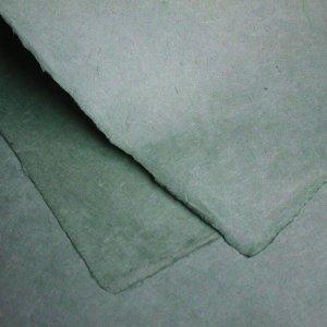 ネパール手漉き紙 無地(プレーン)ペーパー グリーングレー/包装紙/ラッピングペーパー