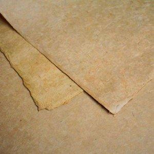 ネパール手漉き紙 無地(プレーン)ペーパー 黄土/包装紙/ラッピングペーパー