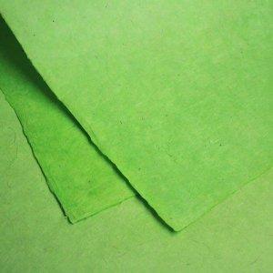 ネパール手漉き紙 無地(プレーン)ペーパー イエローグリーン/包装紙/ラッピングペーパー