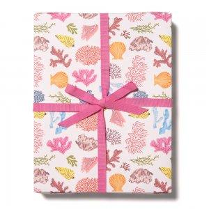 ピンクのサンゴ柄包装紙/ラッピングペーパー