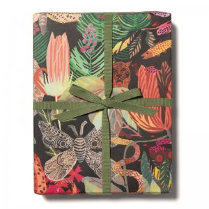 野生の王国柄包装紙/ラッピングペーパー