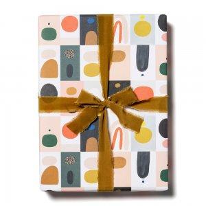 カラフルブロック柄包装紙/ラッピングペーパー