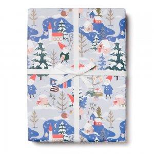 【11月初旬入荷発送予約】クリスマスのこびと柄包装紙