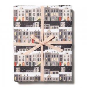 【11月初旬入荷発送予約】クリスマスの街柄包装紙