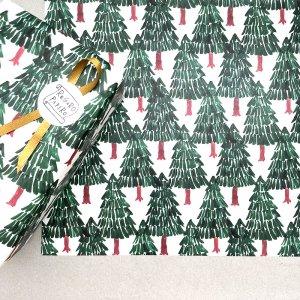 【大判オーダー】モミの木の森柄包装紙 /500枚
