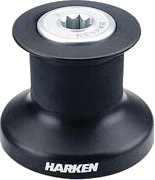 Harken Single Speed Winch with alum/composite base, drum and top B8A