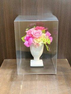 プリザーブドフラワー (ピンク系/8000円)