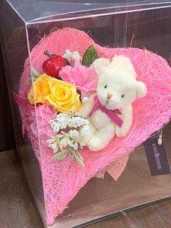 プリザーブドフラワー (ピンク系/4500円)