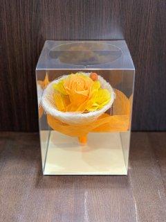 プリザーブドフラワー (オレンジ系/2800円)