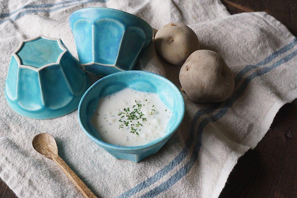 トルコブルー 面取り小鉢