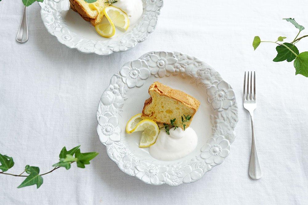 ホワイトグレー 6寸リース皿 アネモネ