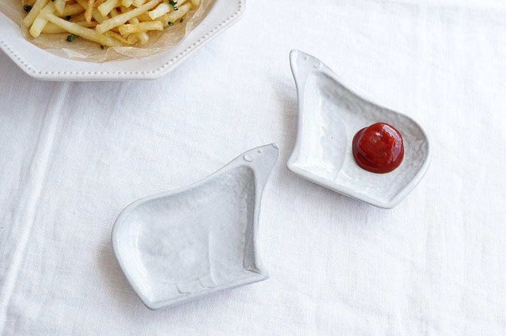 ホワイトグレー 子グマ皿セット