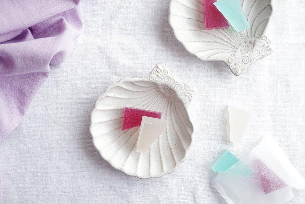 白釉シルバーモチーフ 貝がら皿小 5客制限
