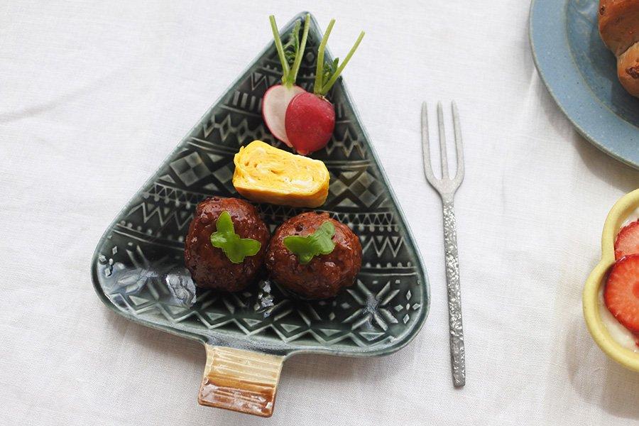 ベルベットグリーン 木のお皿