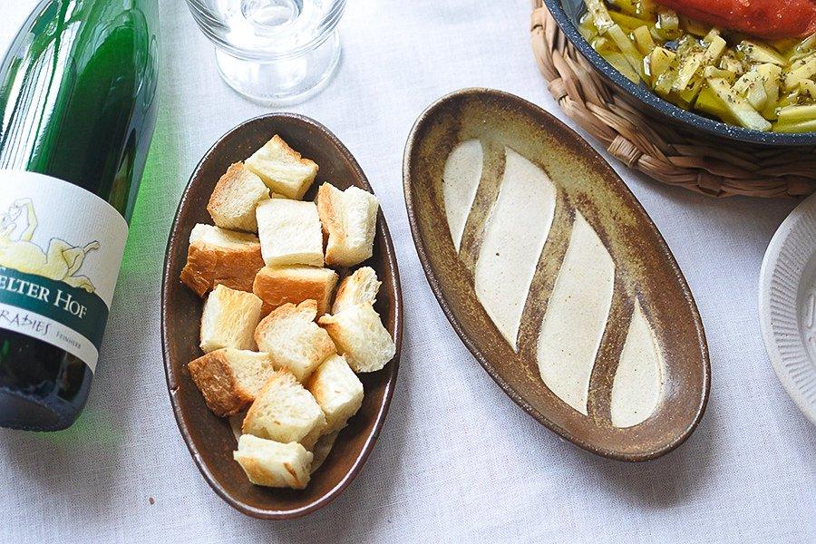 フランスパン皿 短
