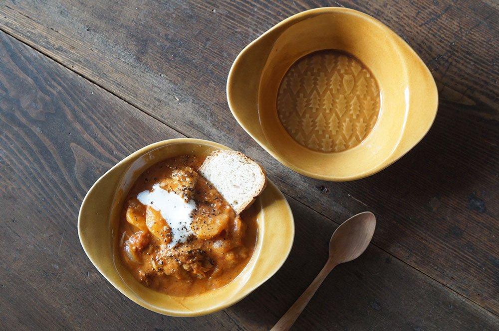 キャメル 森のスープ皿