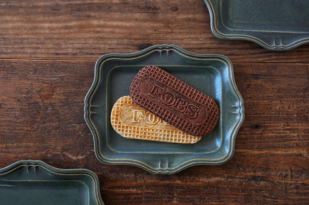 銅緑釉 西洋長方皿