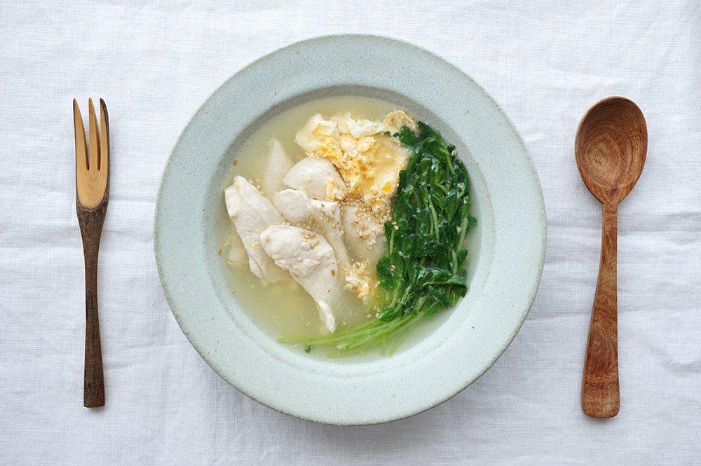 水色 スープ皿