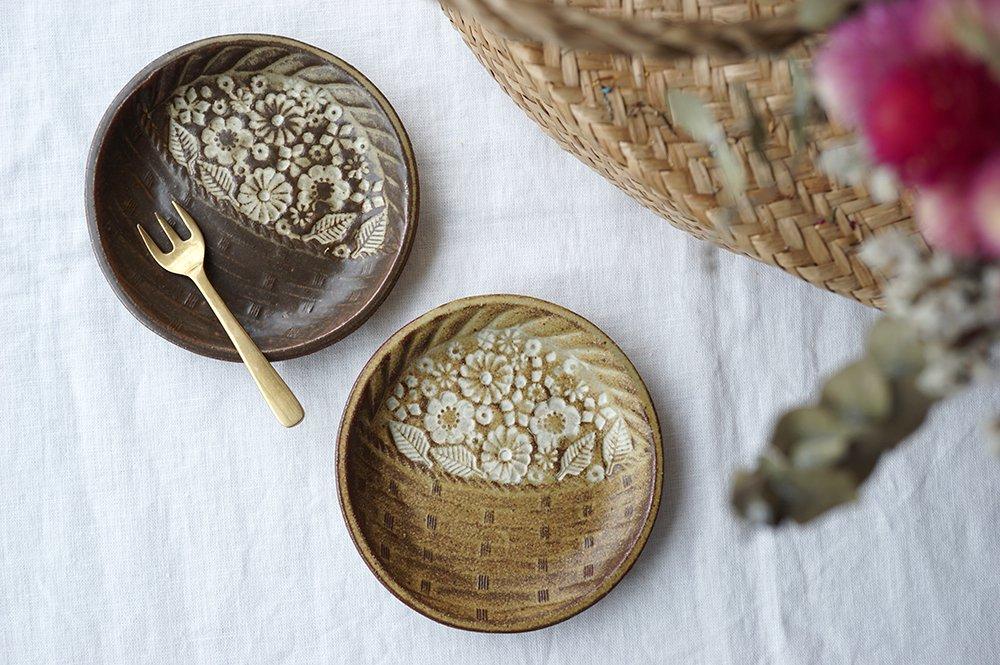 oldwhite 花かご皿