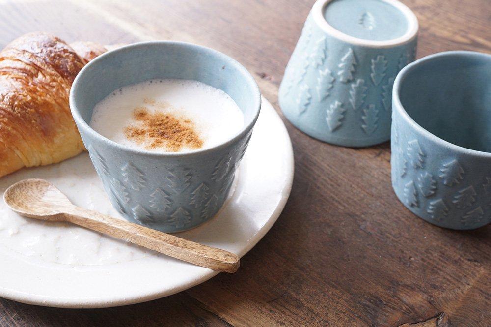 ブルーグレー 森のカップ