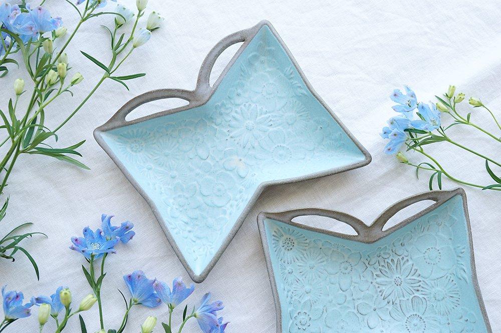 花の蝶々皿