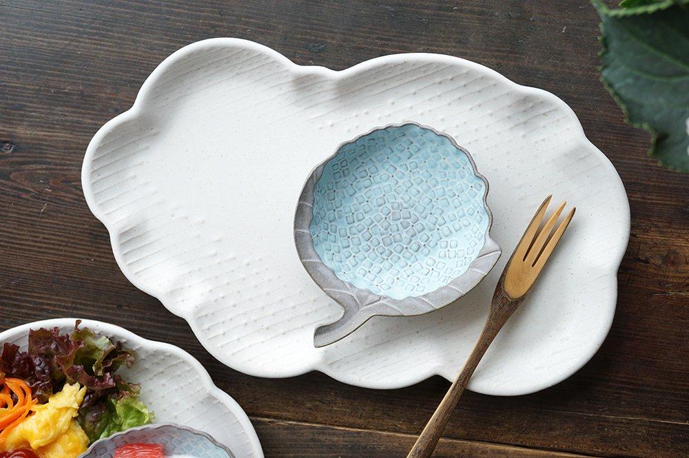 あじさいのブローチ皿と大きな雲皿のセット