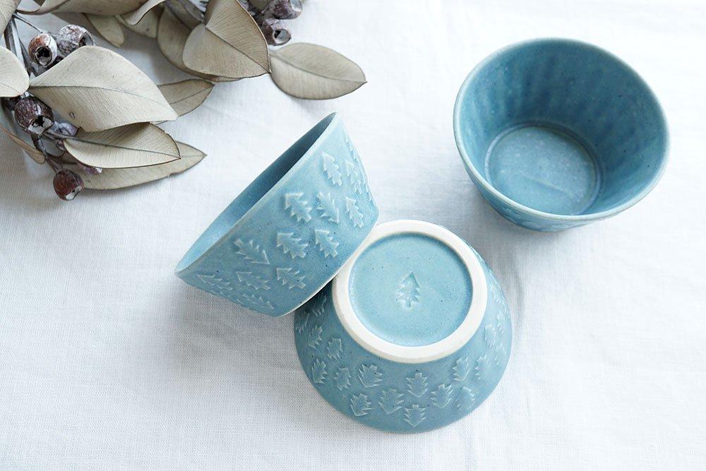 ブルーグレー 森の台形鉢 小