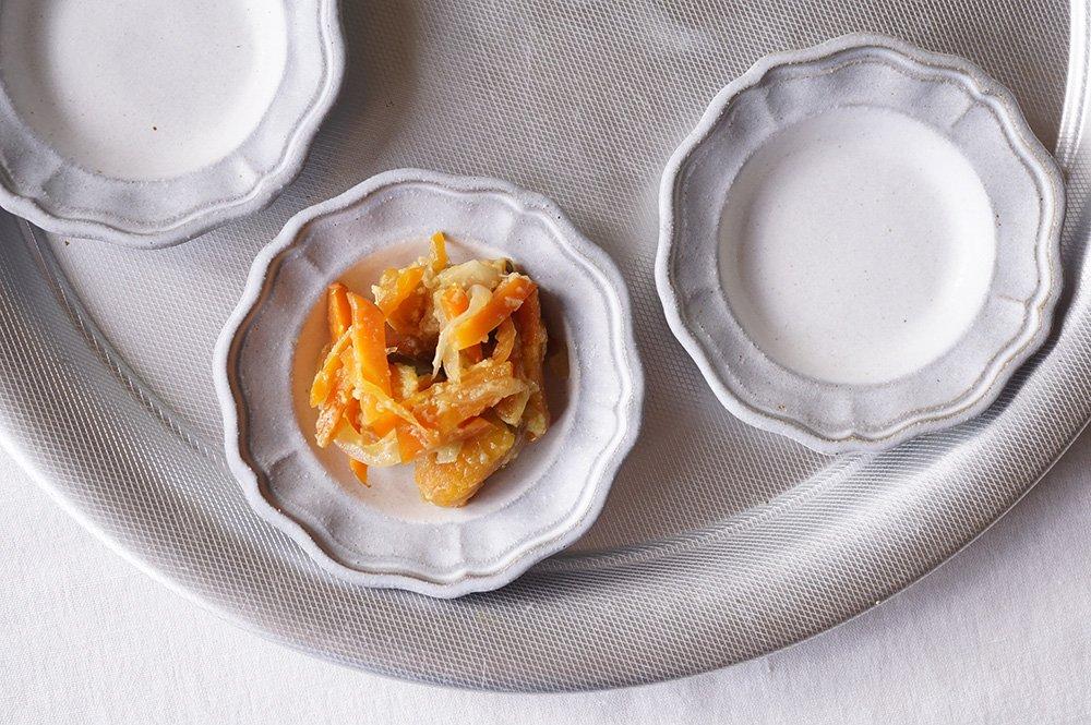 ツートンホワイト 洋まる豆皿