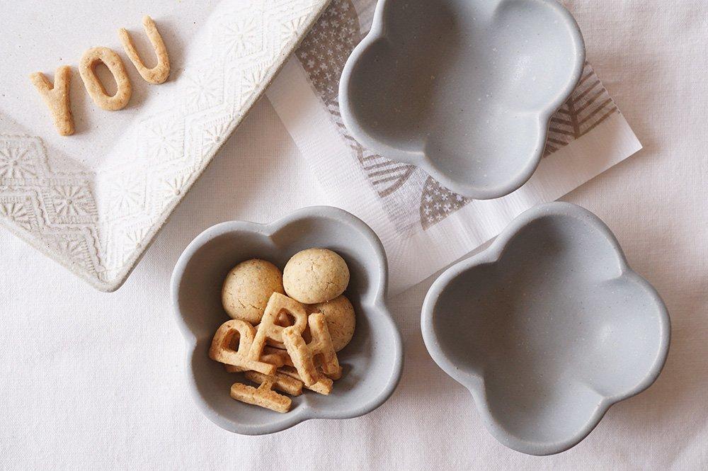グレー 花豆鉢